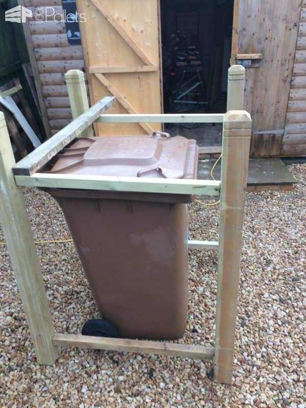 Pallet Wheelie Bin Shed Aka Garbage Can Enclosure Pallet Sheds, Cabins, Huts & Playhouses