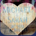 Pallet Wood Heart-shaped Wall Art: Save The Date! Pallet Wall Decor & Pallet Painting