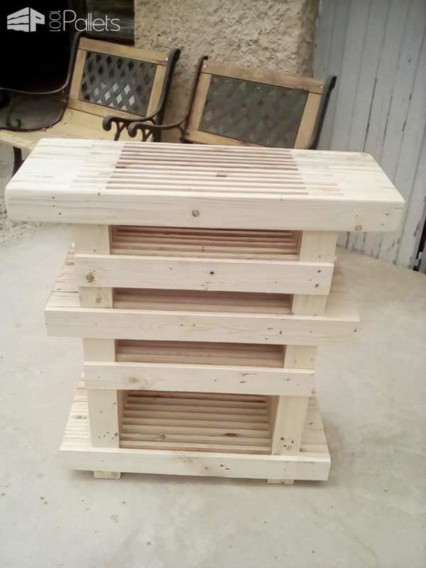 Stack 'em Up: Pallet Strips Tv Stand & Coffee Table Pallet Coffee Tables Pallet TV Stands & Racks