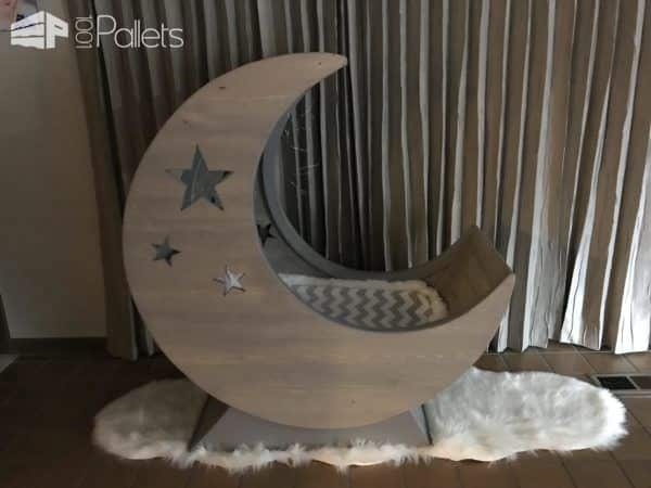 Starry Night Pallet Half-moon Cradle! Pallet Beds, Pallet Headboards & Frames
