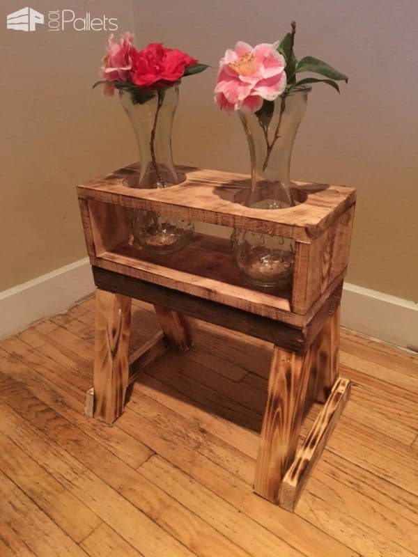 Pyrography Pallet Plant Stands Are Rustic & Gorgeous! Pallet Home Accessories Pallet Planters & Compost Bins