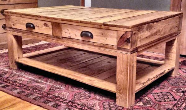 Pallet Coffee Table With Drawers: My First Pallet Project Pallet Coffee Tables