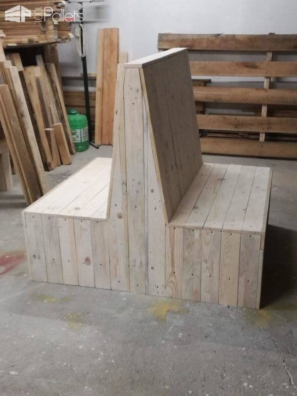Sophisticated Pallet Bench Set Adds Beauty To Your Patio Pallet Benches, Pallet Chairs & Stools