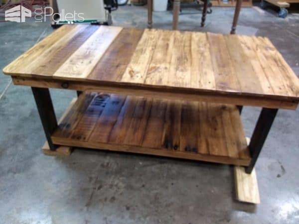 Oak Framed Coffee Table with Lower Shelf Pallet Coffee Tables