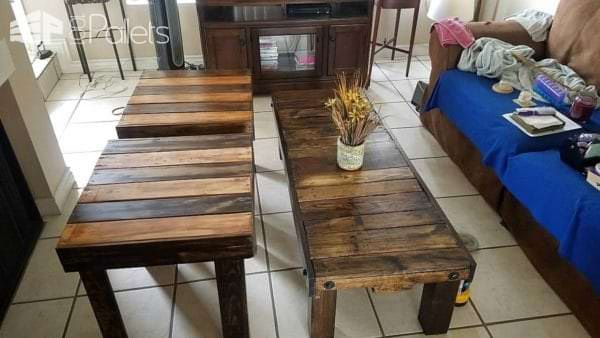 Three Pallet Tables Are Perfect For Smaller Spaces Pallet Coffee Tables