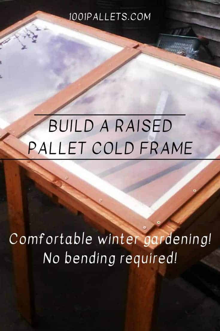 Sun-loving Raised Pallet Cold Frame For Winter Growing Pallet Planters & Compost Bins