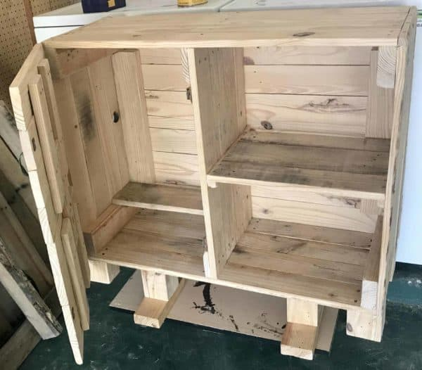 Simple Modular Pallet Bar Cart Pallet Bars Pallet Cabinets & Wardrobes