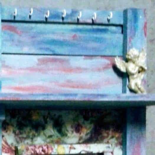 Multi-function Coat Rack from Pallet Wood & Old Window Pallet Shelves & Pallet Coat Hangers