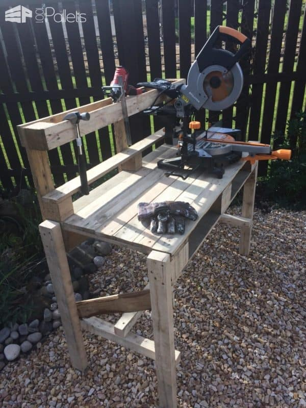 Pallet Workbench/Potting Bench Workshop and tools