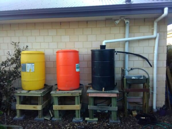 55 Gallons Drum Pallet Stands Pallets in the Garden