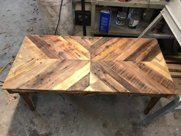 Wood Pallet Chevron Coffee Table Pallet Coffee Tables