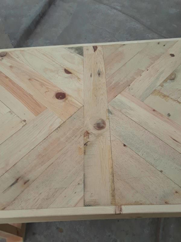 Herringbone Pattern Pallet Table Pallet Coffee Tables