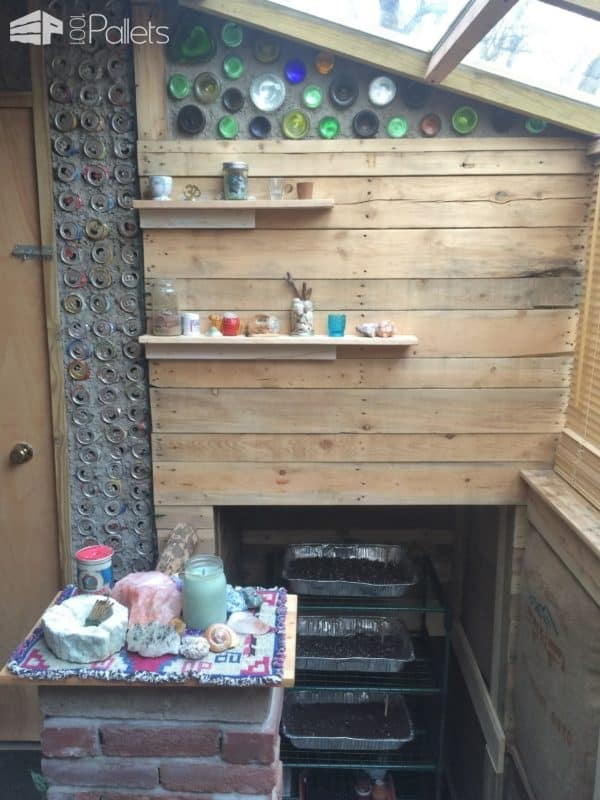 Passive Energy Small Shed/Greenhouse Pallet Sheds, Cabins, Huts & Playhouses