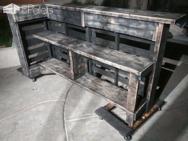 Aged Pallet Bar Set Pallet Bars