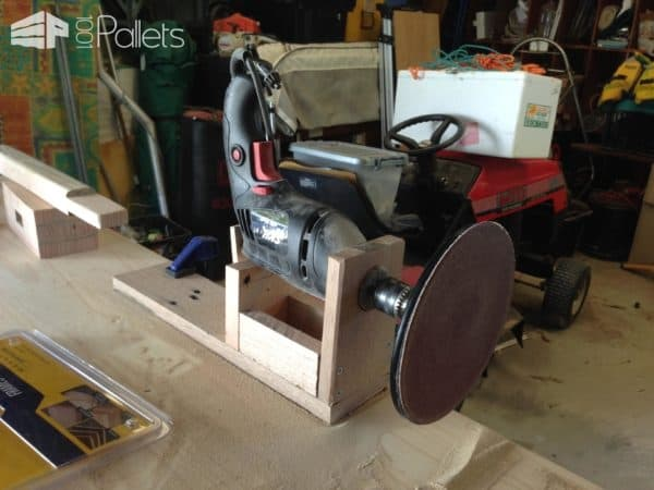 Pallet Tabletop Disc Sander Workshop and tools