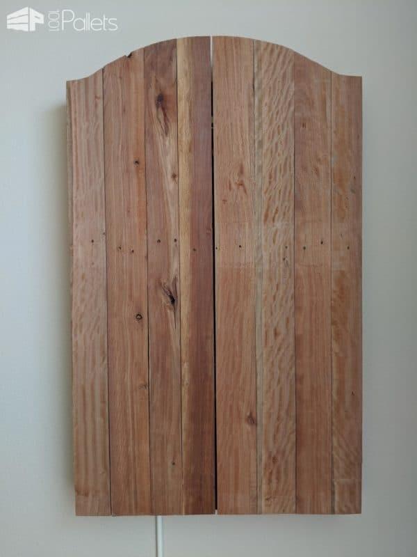Pallet Dartboard Cabinet Pallet Cabinets & Wardrobes