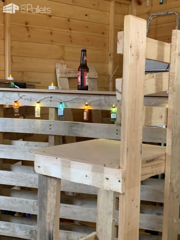 Wonky Effect Bar Stools Pallet Benches, Pallet Chairs & Stools