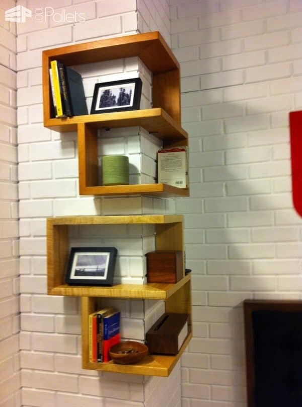 Practical Ways to Use Wall Shelves to Personalize a Dorm Space Pallet Shelves & Pallet Coat Hangers