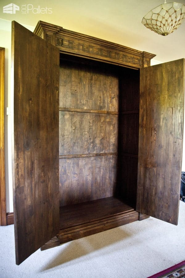 Wardrobe Made Out of Pallet Timber Pallet Cabinets & Wardrobes