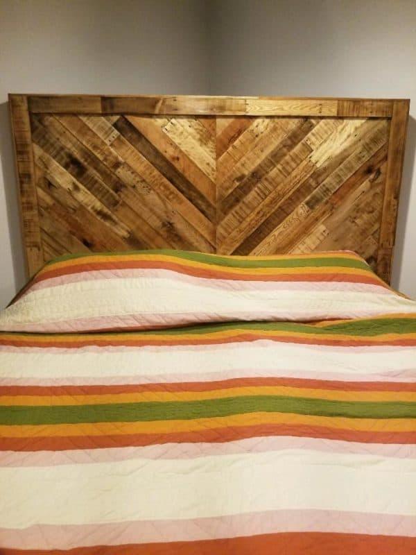 King Size Golden Oak Headboard Pallet Beds, Pallet Headboards & Frames