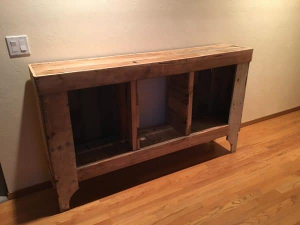 Pallet Foyer Table & Cabinet Pallet Cabinets & Wardrobes