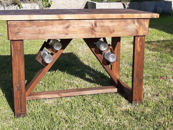 How I Made This Pallet Pub Table: The Wine A Little Pallet Desks & Pallet Tables