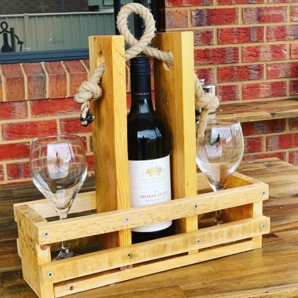 Pallet Wine Caddy Pallet Bars