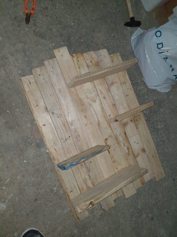 How I Made A Multi-purpose Pallet Shelf Pallet Shelves & Pallet Coat Hangers