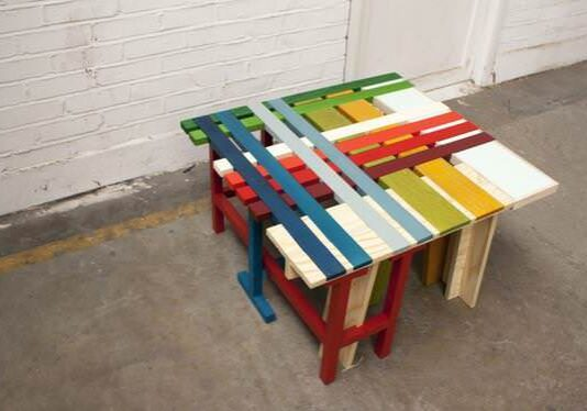 colored pallet creation
