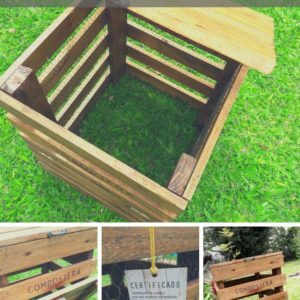 Compost Bin Made from Recycled Pallet Wood
