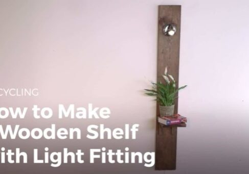 Sikana.tv will teach you how to make a beautiful and handy shelving unit like this one. It has a built-in light fixture that is easier than you think!