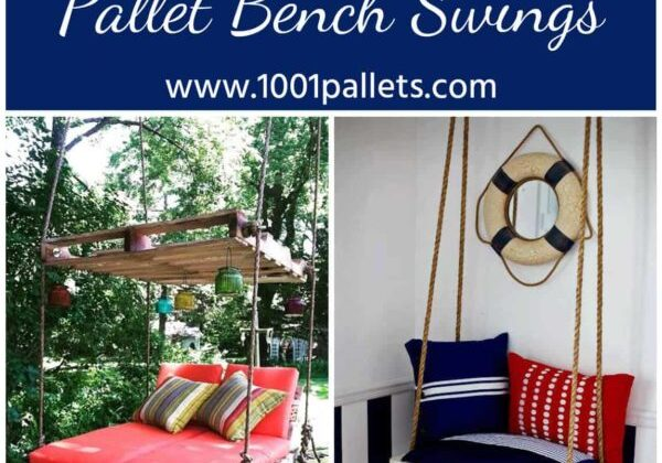 Easy DIY Tutorial: Build & Install One Pallet Bench Swings
