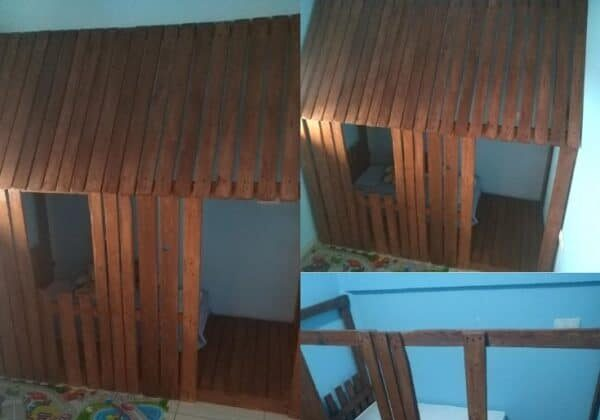 How I Made A Wooden Pallet House In The Children's Room
