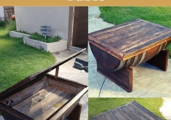 How I Made This Wine Barrel Coffee Table