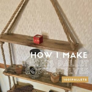 How I Make This Pallet Rope Shelves