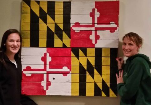 1001pallets.com-maryland-state-flag-project-with-my-daughter-and-wife
