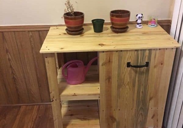 1001pallets.com-pallet-trash-can-hideaway-shelving-unit