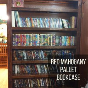 Red Mahogany Pallet Bookcase