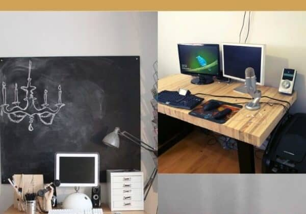 Standing Desk Idea with Pallets for College Students
